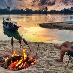 Camp at Koh Preah